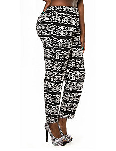 Geometric Sketch Lightweight Pant by Re/Dress