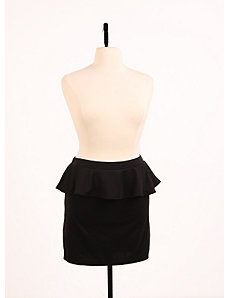 Perfect Peplum Skirt Black by Re/Dress