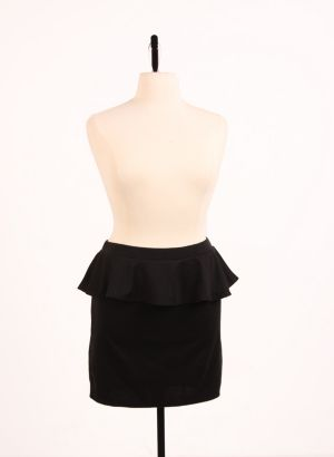Perfect Peplum Skirt Black