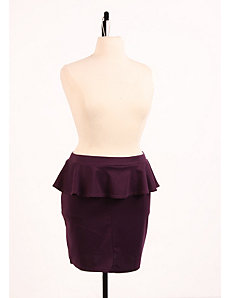 Perfect Peplum Skirt Plum by Re/Dress
