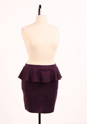 Perfect Peplum Skirt Plum