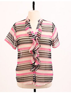 Candy Striper Sheer Top by Re/Dress