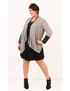 Edgy Entity Cardigan- Charcoal by Re/Dress