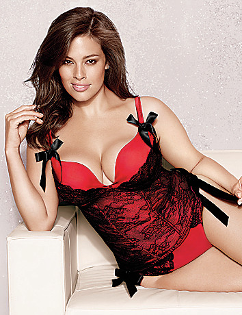 Plus Size Satin and Lace Corset by Cacique