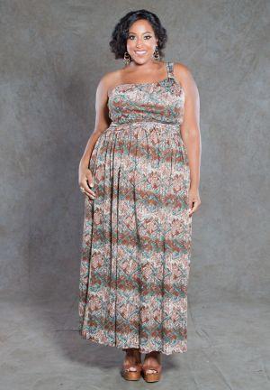 Ellen Tribal Print Maxi Dress