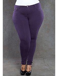 Zoe Jeggings in Eggplant by SWAK Designs