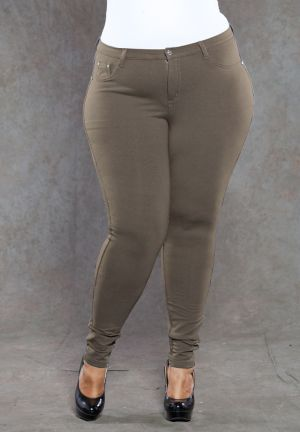Zoe Jeggings in Brown