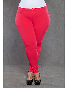Zoe Jeggings in Red by SWAK Designs