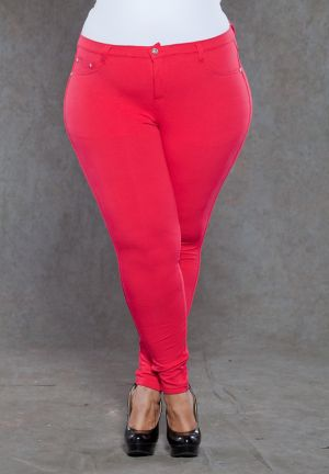 Zoe Jeggings in Red