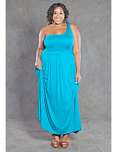 Ellen One Shoulder Maxi Dress by SWAK Designs