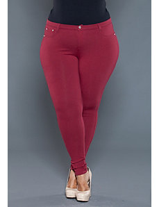 Zoe Jeggings in Burgundy by SWAK Designs