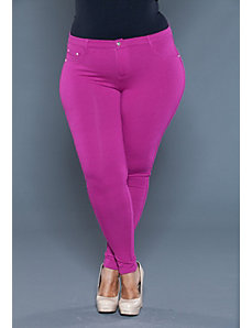 Zoe Jeggings in Raspberry by SWAK Designs