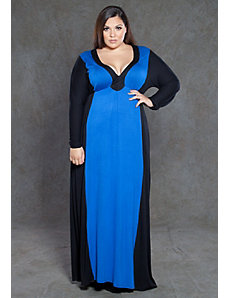 Samantha Two Tone Maxi Dress by SWAK Designs