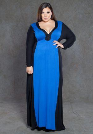 Samantha Two Tone Maxi Dress