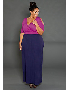 Jasmine Cold Shoulder Maxi Dress by SWAK Designs
