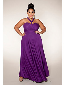 Eternity Convertible Maxi Dress (Berry Shades) by SWAK Designs