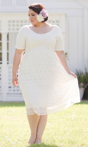 Kara Lace Dress in White