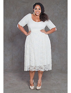 Kara Lace Dress in White by SWAK Designs