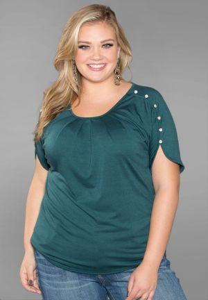 Tara Button Sleeve Top