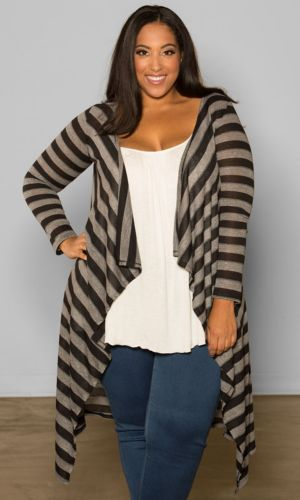 Jamie Knit Cardigan (Stripes)
