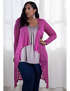 Jamie Knit Cardigan (Sherbet) by SWAK Designs
