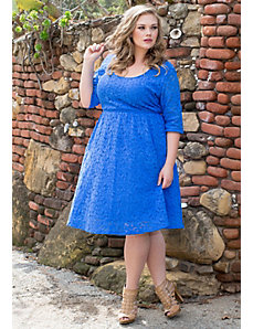 Harlow Lace Dress (Seaside) by SWAK Designs