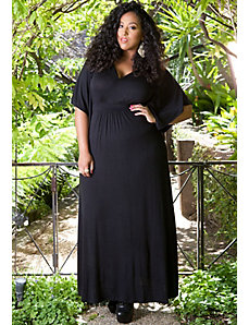 Joan Maxi Dress in Black by SWAK Designs