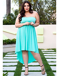 Anya Strapless Dress in Mint by Sealed With a Kiss Designs