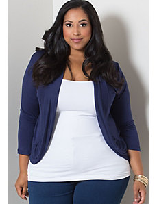Amber Shrug in Navy by Sealed With a Kiss Designs