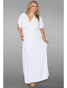 Classic Maxi Dress in White by Sealed With a Kiss Designs
