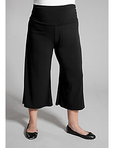 Essential Gaucho Pants in Black by Sealed With a Kiss Designs