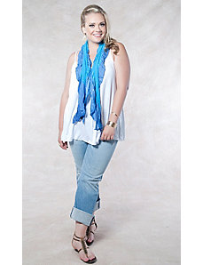 Fade Ruffle Scarf by SWAK Designs