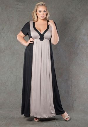 Cassandra Two Tone Maxi Dress