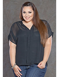 Melanie Chiffon Blouse by SWAK Designs