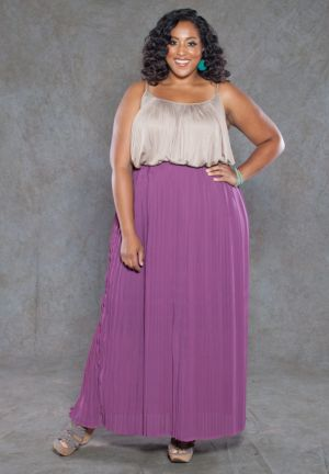 Aruna Pleated Maxi Skirt
