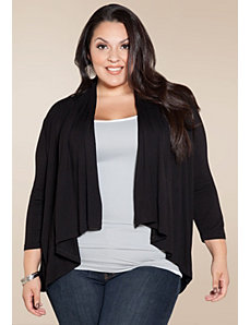 Open Cardigan in Black by Sealed With a Kiss Designs
