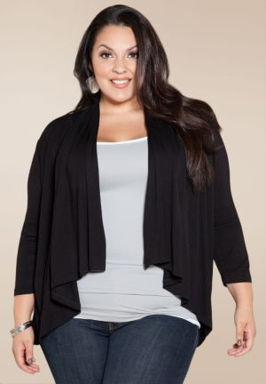 Open Cardigan in Black