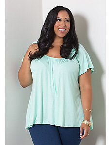Pretty Flutter Top (Crisp Colors) by Sealed With a Kiss Designs