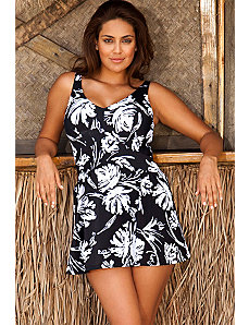 Splash V-Neck Swimdress by Beach Belle