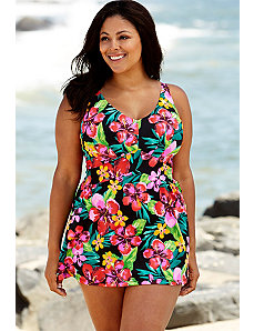 Montego Bay V-Neck Swimdress by Beach Belle