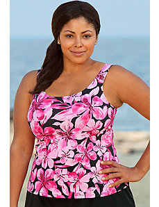 Honolulu Pink Tankini Top by Beach Belle