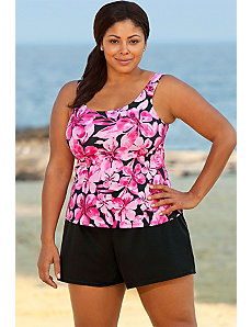 Honolulu Pink Tank Shortini by Beach Belle