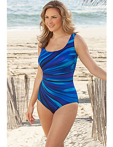 Blue Murano Tank Swimsuit by Longitude