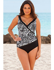 Longitude Sand Dunes Plus Size Surplice Swimsuit by Longitude