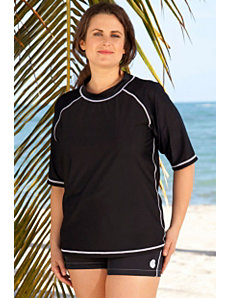 Solid Black Rashguard by Beach Belle