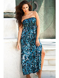 Skipping Stones Smocked Maxi Dress by Beach Belle
