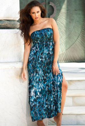 Skipping Stones Smocked Maxi Dress
