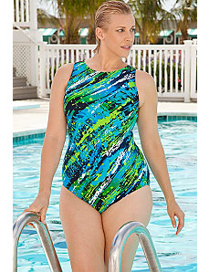 Diagonal Paint Swimsuit by Aquabelle