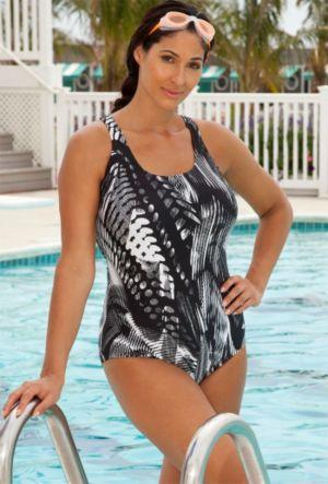 Spirograph Cross Back Swimsuit