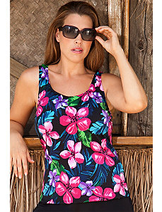 Pink Paradise Falls Tankini Top by Beach Belle